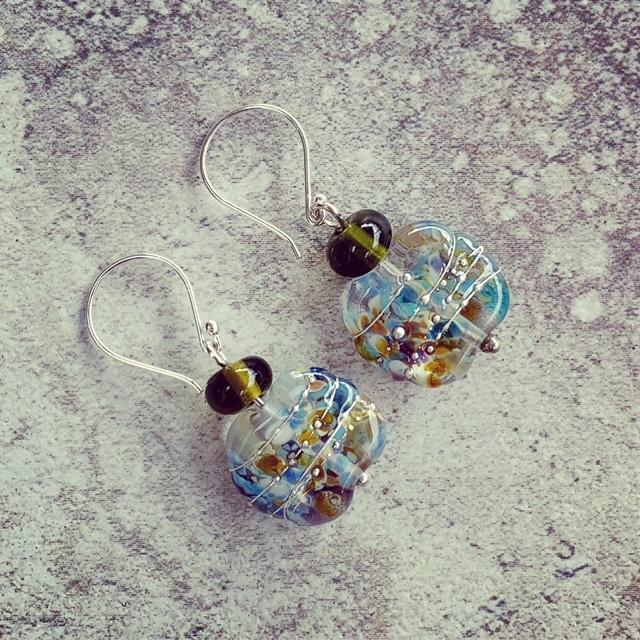 Bethany wine bottle earrings