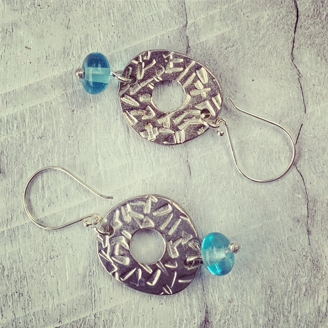 statement recycled glass earrings