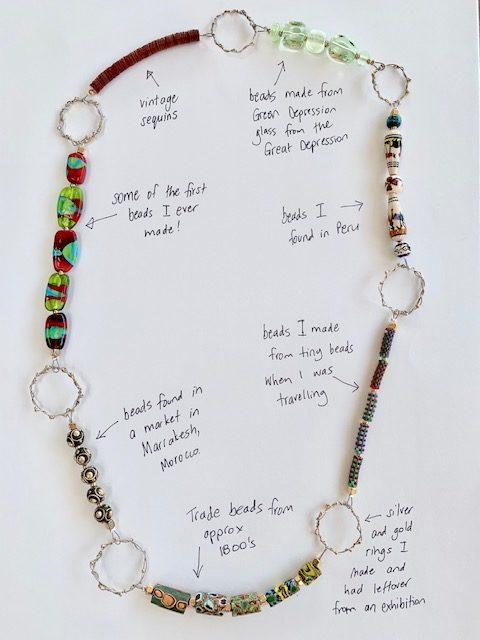 Julie Frahm Glass necklace