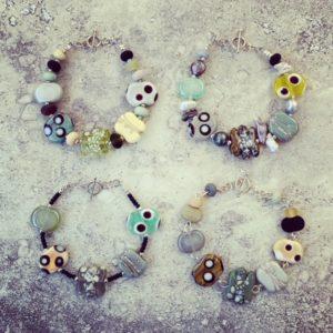 Neutral Earthy Glass Jewellery