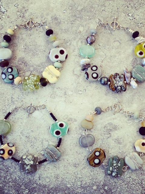 Julie Frahm Glass bead bracelet