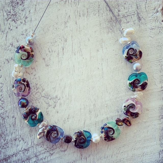 ocean inspired necklace